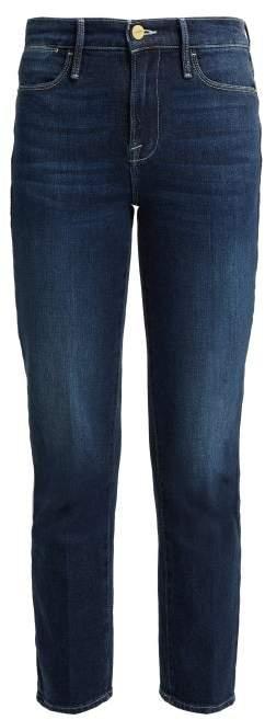 Le High Straight Leg Jeans - Womens - Dark Blue