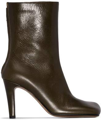 Bottega Veneta square-toe ankle boots