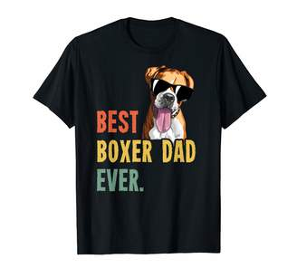 German Boxer Lover Fun Tshirts For Women And Men Mens Best Boxer Dad Ever Shirts Dog Funny Fathers Day T-Shirt