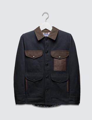 Junya Watanabe Wool Cotton Blend Patch Jacket