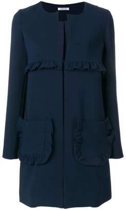 P.A.R.O.S.H. straight-fit ruffle coat