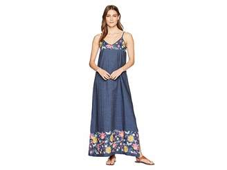 Karen Kane Embroidered Maxi Dress Women's Dress