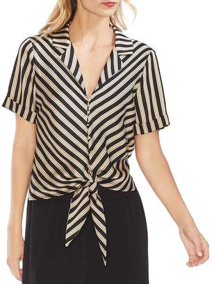 Vince Camuto Striped Tie-Front Shirt