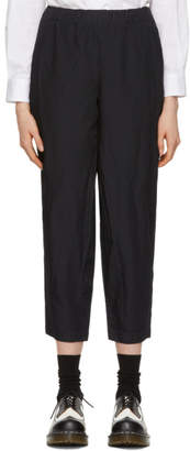 Comme des Garcons Navy Crinkled Trousers