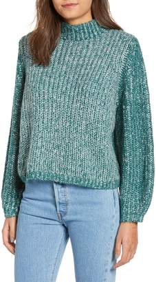 BP Marled Puff Sleeve Sweater