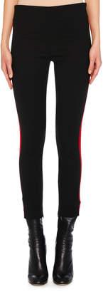 Alexander McQueen Side-Stripe Wool Leggings