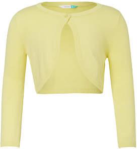 John Lewis Girls' Shrug, Yellow