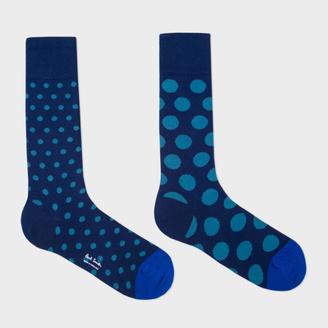 Men's Navy Polka Dot Odd Socks $30 thestylecure.com