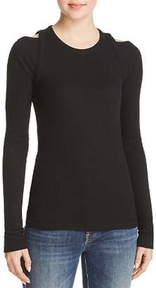 Rag & Bone Ribbed Shoulder-Cutout Top
