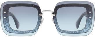 Miu Miu Reveal square frame sunglasses