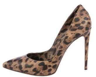 Dolce & Gabbana Leather Leopard Print Pumps