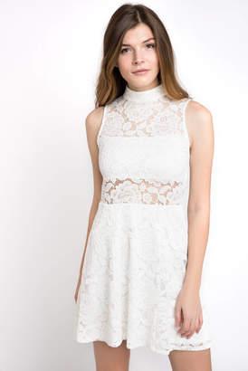 Show Me Your Mumu Alexa Lace Mock Neck Sleeveless Dress