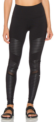 alo High Waisted Moto Legging in Black $114 thestylecure.com