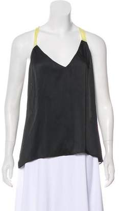 Elizabeth and James Sleeveless V-Neck Blouse