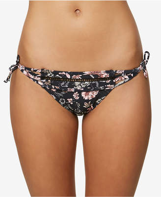 O'Neill Juniors' Printed Side-Tie Cheeky Bikini Bottoms Women's Swimsuit