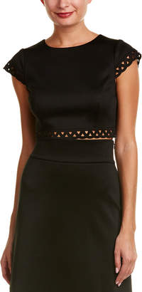 Susana Monaco Laser-Cut Crop Top