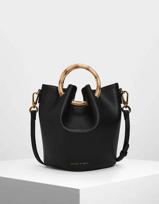 Charles & Keith Petal Fold Bucket Bag