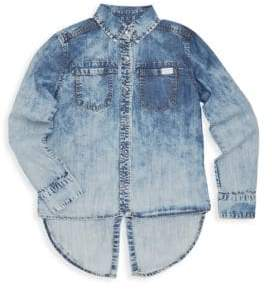 7 For All Mankind Girl's Long-Sleeve Denim Button-Down Shirt
