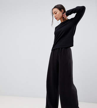 Asos Tall DESIGN Tall Lounge brushed ribbed wide leg pants