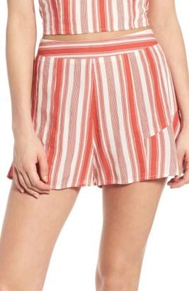 Women's Band Of Gypsies Stripe Ruffle Shorts $48 thestylecure.com