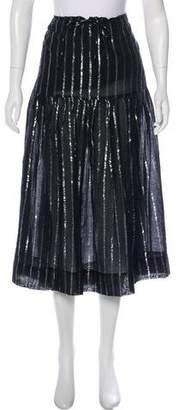 Isabel Marant Metallic Midi Skirt