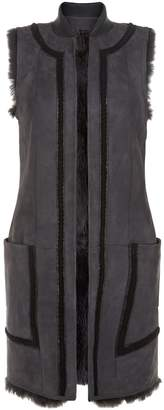 Amanda Wakeley Reversible Sheepskin Gilet