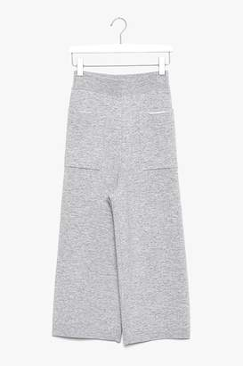 Genuine People Wide Leg Cropped Wool Cashmere Pants