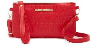 Steve Madden Embossed Logo Charging Crossbody Bag