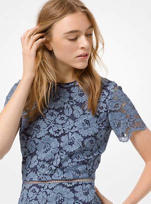 Michael Kors Tie-Dye Floral Lace Dress