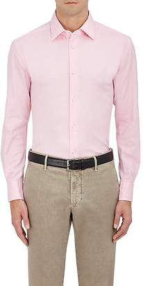 Piattelli MEN'S COTTON PIQUÉ DRESS SHIRT