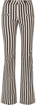 Altuzarra Serge Striped Cotton-blend Flared Pants - Black