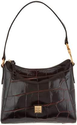 At Qvc Dooney Bourke Croco Leather Large Cassidy Hobo Handbag