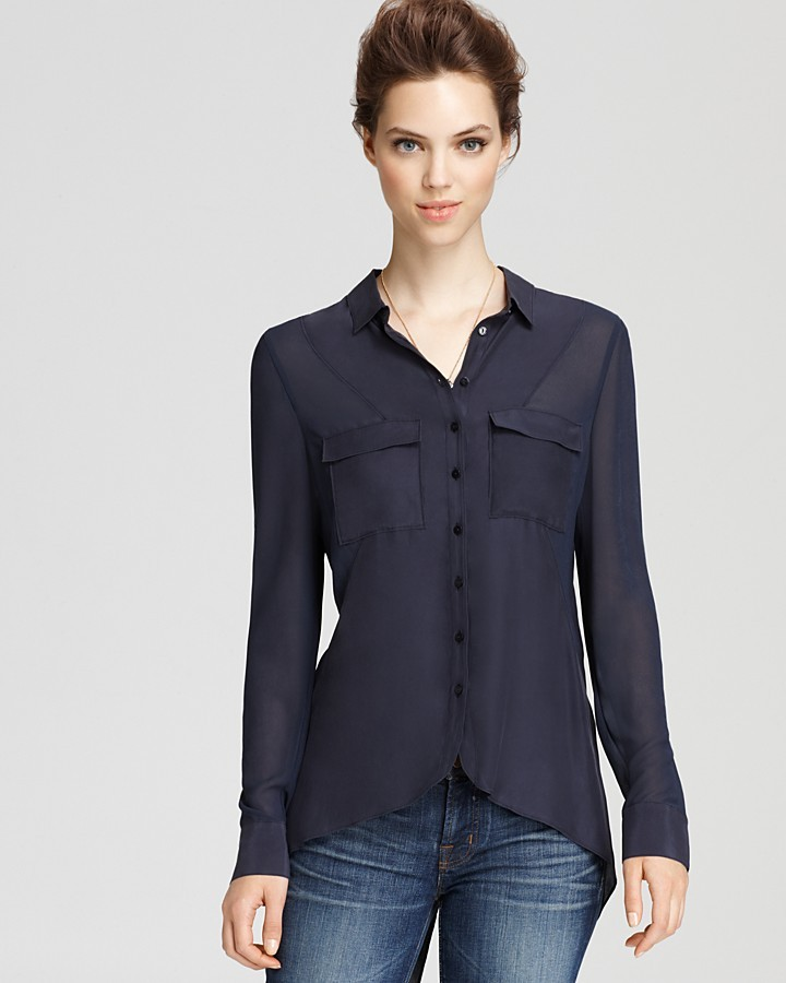 Quotation: Addison Top - Seamed Button Down