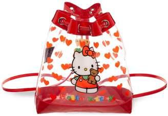 Hello Kitty Heart Mini Drawstring Backpack