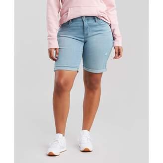 Levi's Women's Plus-Size Shaping Bermuda Shorts