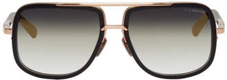 Dita Black and Gold Mach-One Sunglasses