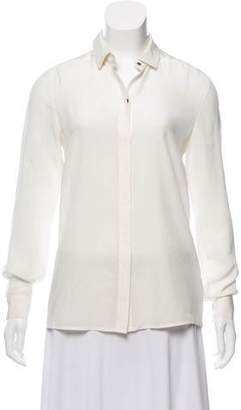 Jay Godfrey Long Sleeve Button-Up Top