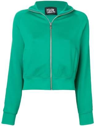 Karl Lagerfeld zip-up logo jacket