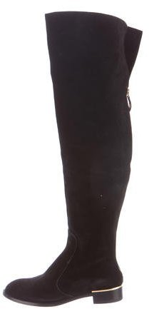 Louis Vuitton Suede Over-The-Knee Boots