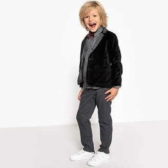 La Redoute Collections Velvet Straight Cut Blazer, 3-12 Years