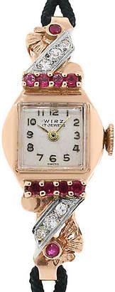 One Kings Lane Vintage Wirz Rose Gold Antique Watch - Raymond Lee Jewelers