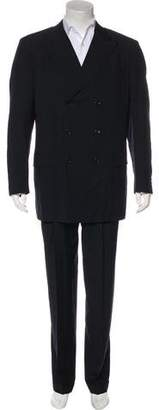 Barneys New York Barney's New York Wool Double-Breasted Cuffed Suit