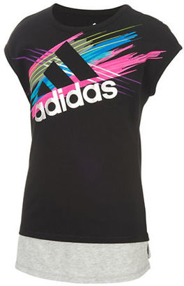 Adidas Girls 2-6x Screen Print Run Wild Top $20 thestylecure.com