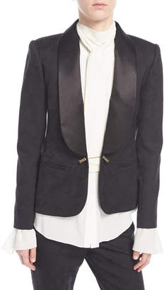 Redemption Satin-Trim Tuxedo Jacket