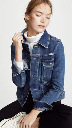 Wrangler Pleated Denim Jacket