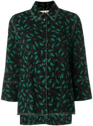 Marni abstract pyjama style shirt