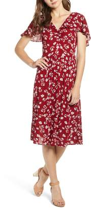Moon River Floral Midi Dress