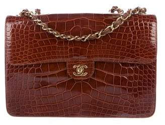 Chanel Alligator Classic Jumbo Single Flap Bag