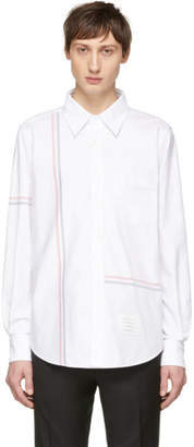 Thom Browne White Straight Fit Button-Down Shirt