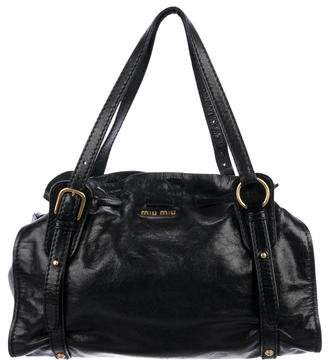 063bcc2f4eff Miu Miu Black Leather Tote Bags - ShopStyle